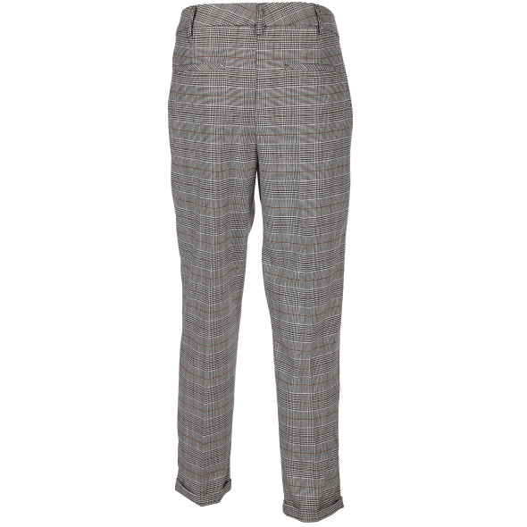 Damen Hose im Glencheck Muster