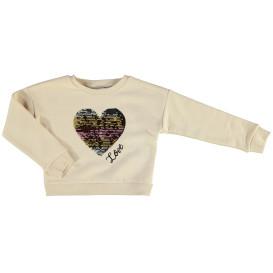 Mädchen Sweatshirt mit Pailletten Motiv