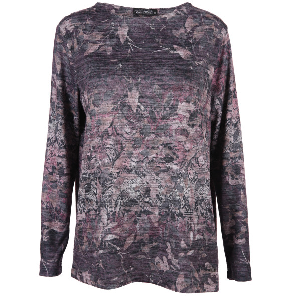 Damen Flauschshirt mit Alloveprint