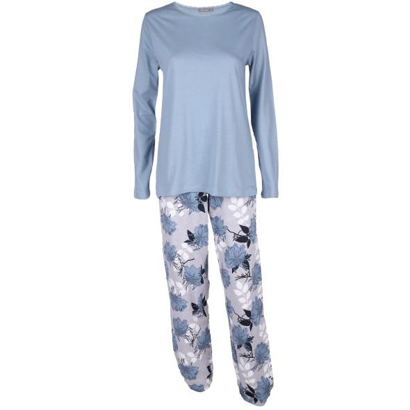 Damen Pyjama mit floralem Print