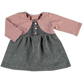 Baby Mädchen Kleid mit festem Bolero