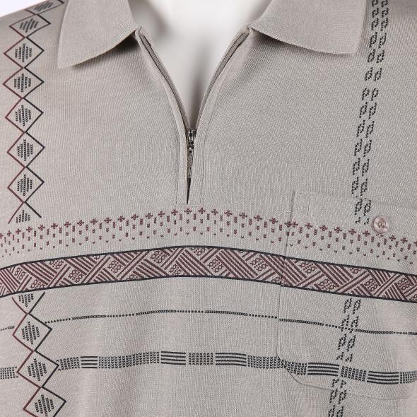 Herren Poloshirt mit Musterprint