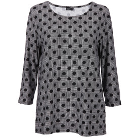 Damen Alloverdruck Shirt mit 3/4 Arm