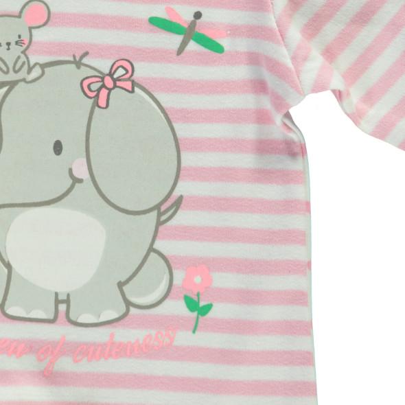 Baby Mädchen Pyjama mit Alloverprint