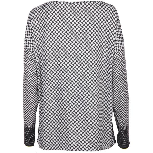 Damen Langarmshirt im Minimalprint