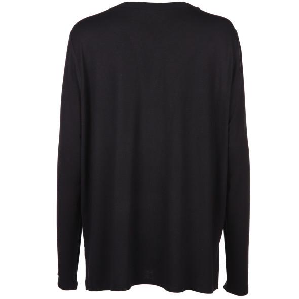 Damen Material Mix Shirt