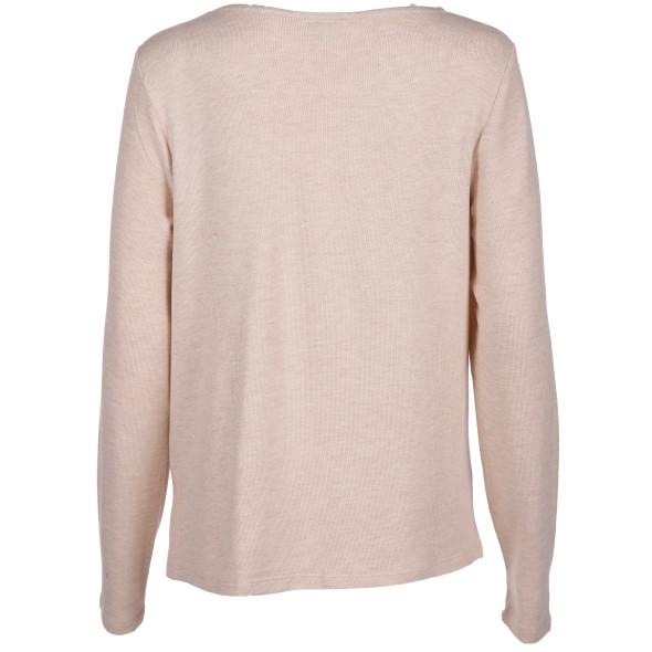 Damen Pullover mit überlappendem Saum