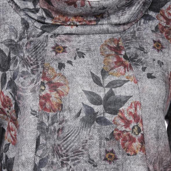 Damen Wirkkleid mit halsfernem Rollkragen