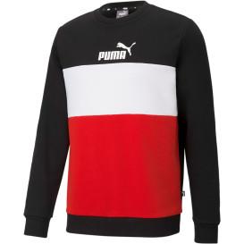 Herren Sweatshirt mit Print und Blockstreifen