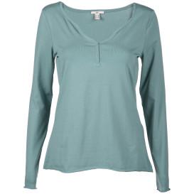 Damen Shirt mit dekorativem Ausschnitt