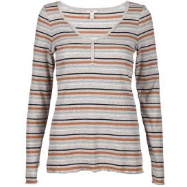 Damen Langarmshirt in Ripp-Optik