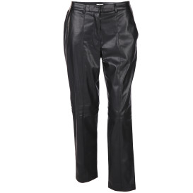 Damen Hose in Leder-Optik