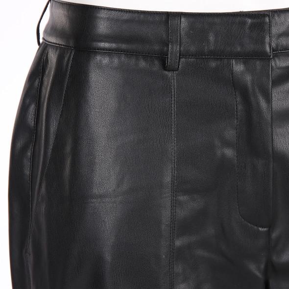 Damen Hose in Leder-Optik