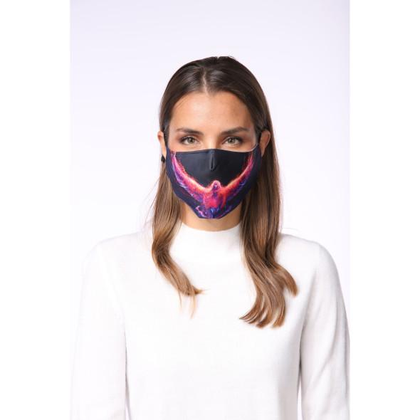 Mund- und Nasenmaske bedruckt