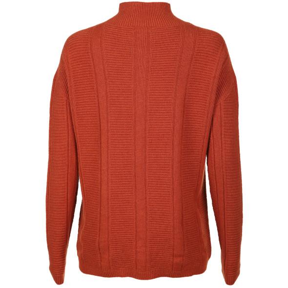 Damen Pullover in Ripp- und Zopfmuster