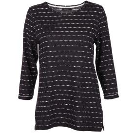 Damen Jaquardshirt mit Muster und 3/4 Arm