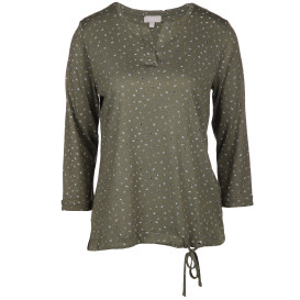 Damen Shirt im Minimalprint mit 3/4 Arm