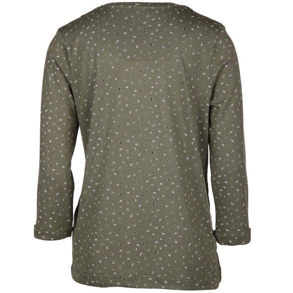 Damen Shirt im Minimalprint mit 3/4 Arm