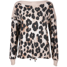 Damen Pullover im Animalprint