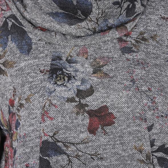 Damen Wirkkleid mit Blumenprint