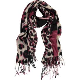 Damen Schal mit Animalprint und Fransen