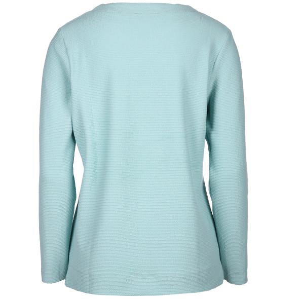 Damen Jaquard-Shirt mit Ripp-Struktur