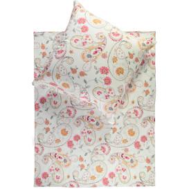 Jerseybettwäsche mit floralem Print, 155x220cm