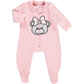 Baby Mädchen Pyjama mit Stickerei und Alloverprint