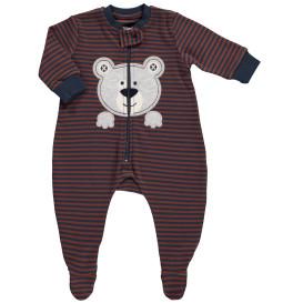 Baby jungen Pyjama mit Stickerei-Applikation