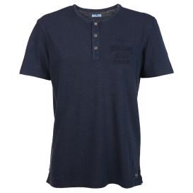 Herren Shirt mit Stickerei und Knopfleiste