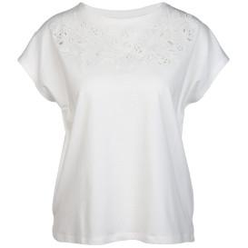 Damen T-Shirt mit Lochstickerei