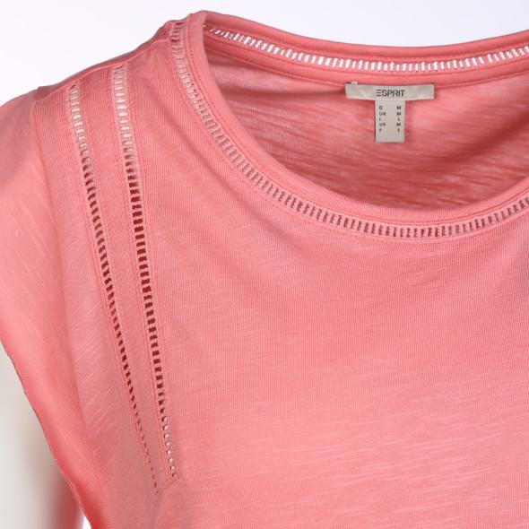 Damen Shirt mit Flügelärmeln und Lochstickerei