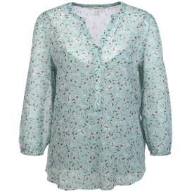 Damen Crincle Bluse mit Untertop