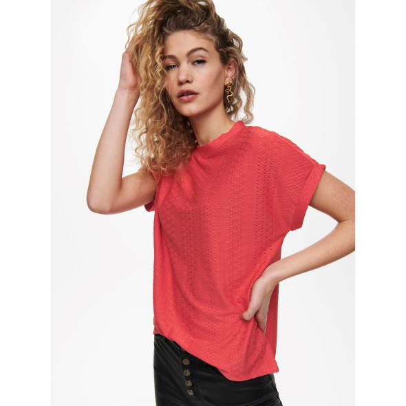 Only ONLIDA S/S O-NECK TOP Strukturshirt