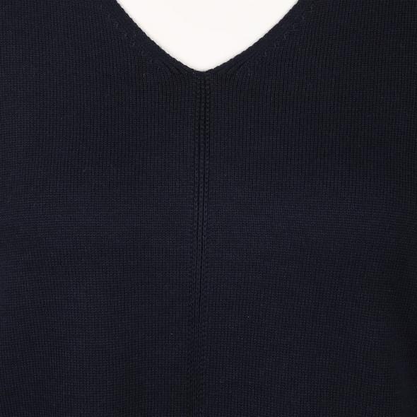 Damen Feinstrickpullover mit V-Ausschnitt
