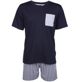 Herren Pyjama Kurzarm Set
