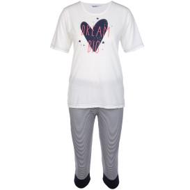 Damen Pyjama Set mit 3/4 Hose