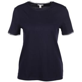 Damen Shirt mit Spitzenbesatz