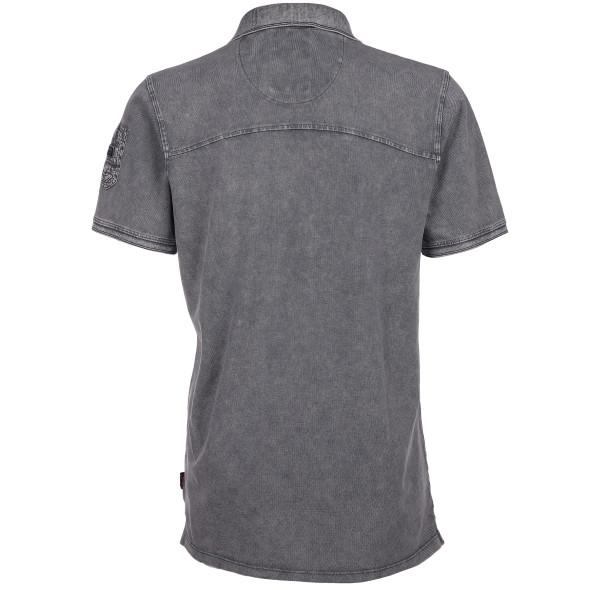 Herren Poloshirt im Used Look