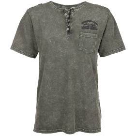 Herren Henley Shirt im Used Look