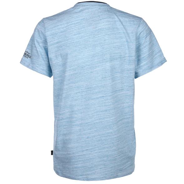 Herren Henley Shirt in melierter Optik