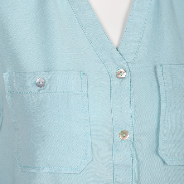 Damen Bluse mit Brusttaschen