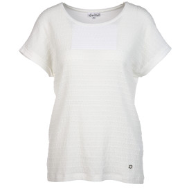 Damen Materialmixshirt