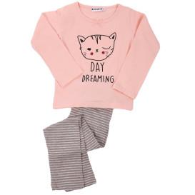 Mädchen Pyjama mit Katzenprint