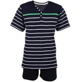 Herren Kurzarm-Pyjama mit Streifen