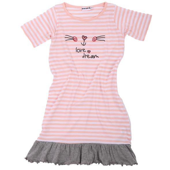 Mädchen Nachthemd mit Streifen