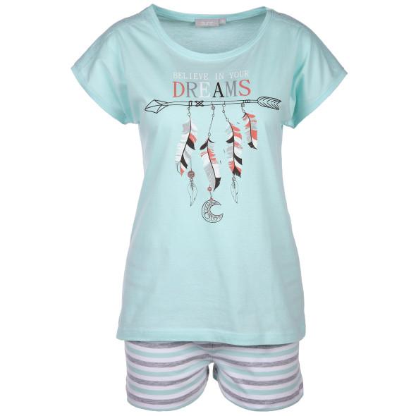 Damen Pyjama mit Frontprint