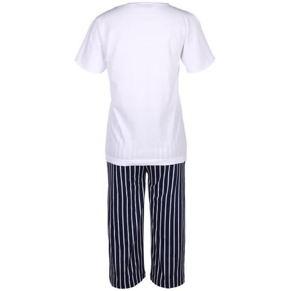 Damen Pyjama mit Stickerei