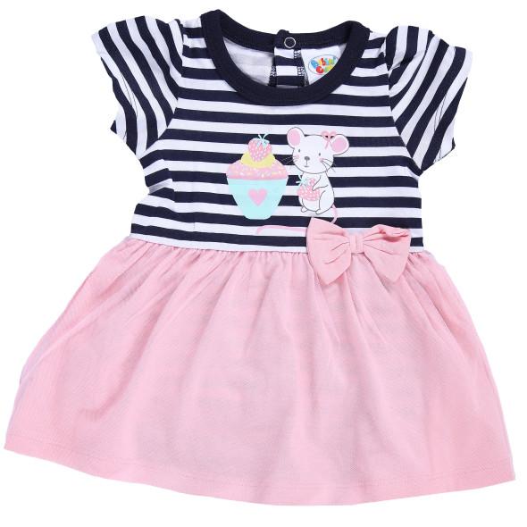 Baby Mädchen Kleid mit integriertem Body