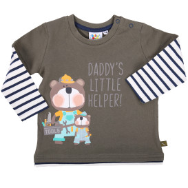 Baby Jungen Longsleeve in 2in1 Optik